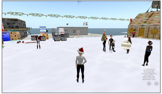 In this example, a student is presenting his position on virtual worlds as a ...